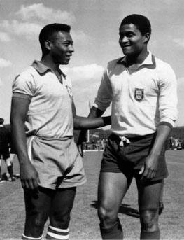 Eusébio and Pelé
